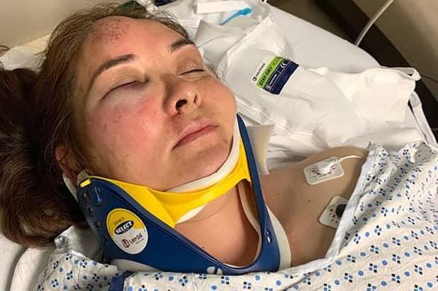 A mãe foi hospitalizada após ter sido agredida pelo menino de 13 anos