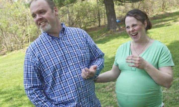 O casal Kateri e Jay Schwandt