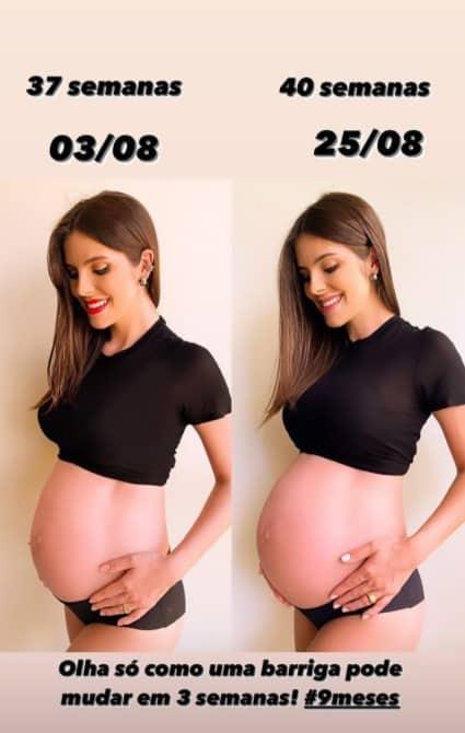 Esposa de Mano Walter mostrou o crescimento da barriga
