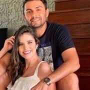 Débora Silva encantou ao mostrar portal maternidade de seu bebê com Mano Walter