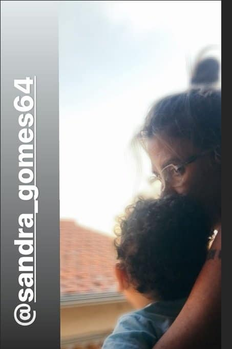 Sogra de Mara Maravilha com o bebê Benjamin