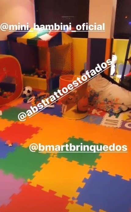 Quarto de brinquedos do filho da apresentadora Mara Maravilha