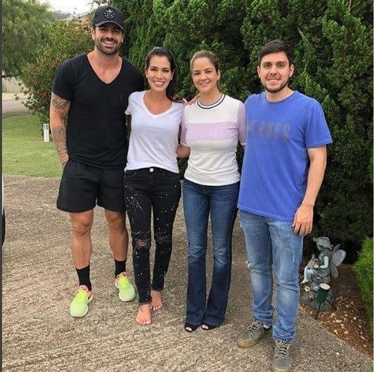 Adriana Sant'Anna e Rodrigão com Maria Cecília e Rodolfo