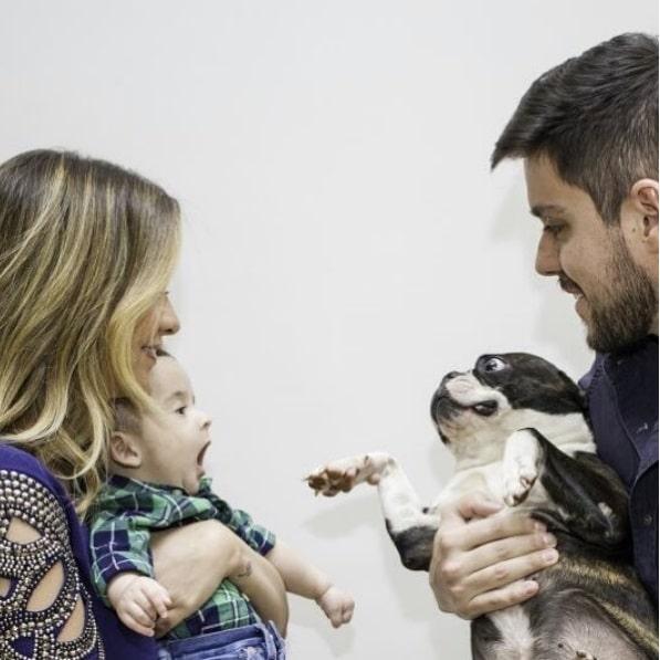 Maria Cecília e Rodolfo fazem um ensaio fotográfico com o filho