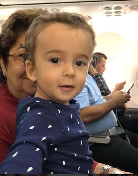 Foto do pequeno Pedro publicada pela mamãe Maria Cecília