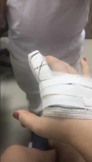 Mariana Bridi sofreu um acidente