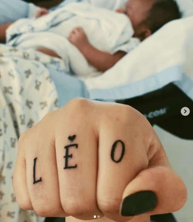 Tatuagem que a cantora Marília Mendonça fez para seu filho