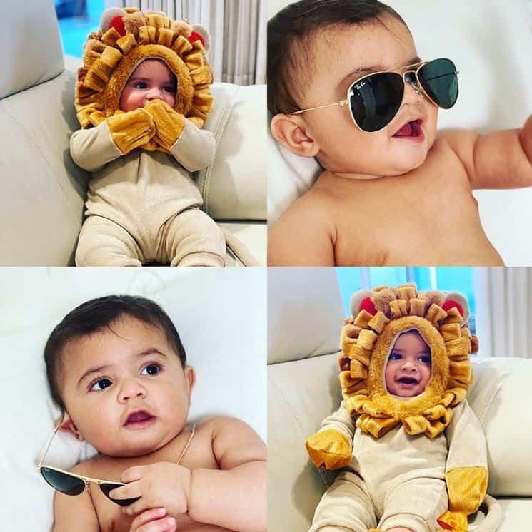 Bebê de Marília Mendonça fantasiado de leãozinho