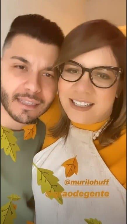 Marília Mendonça e Murilo Huff no dia que foram ver o quarto do filho