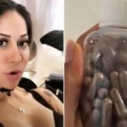 Mayra Cardi está tomando cápsulas de sua placenta