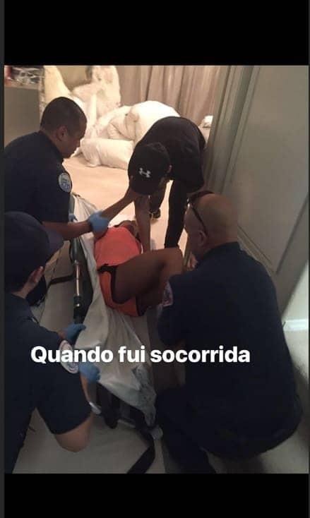 Mayra Cardi também publicou o momento em que foi resgatada quando teve seu primeiro problema sério na coluna anos atrás
