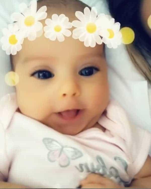 Sophia, filha de Mayra e Arthur Aguiar, tem 2 meses