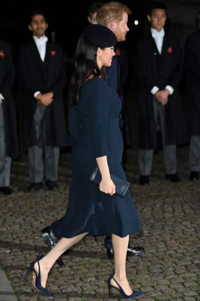 A duquesa Meghan Markle com o príncipe Harry
