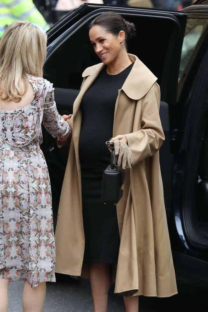 Mais uma bela imagem da duquesa Meghan Markle durante sua gestação