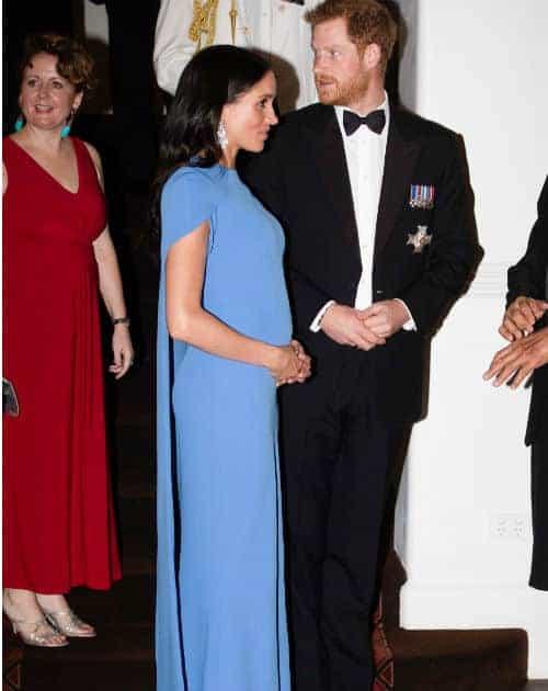 Mais uma bela imagem da duquesa Meghan Markle e sua barrida de grávida