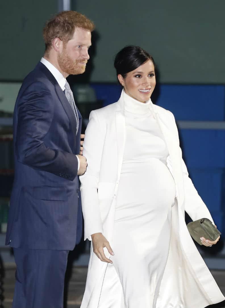 A duquesa Meghan Markle com o marido, príncipe Harry