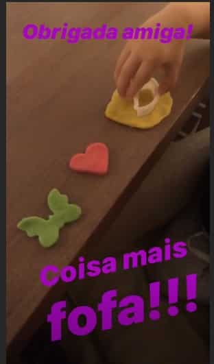 Imagem da diferente lembrancinha da festa da filha do ator Rafael Cardoso