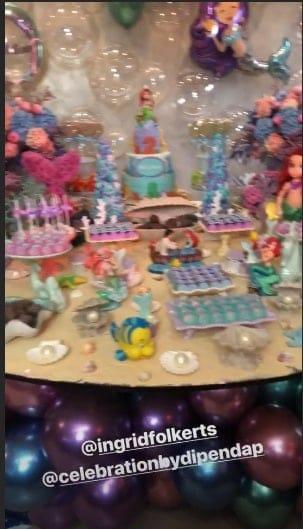 A bela decoração da festa de 2 anos da menina Melinda