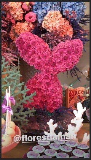 O tema da festa foi da Pequena Sereia para comemorar os dois anos da fofa Melinda