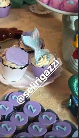 Foto dos doces da festa de dois anos e Melinda