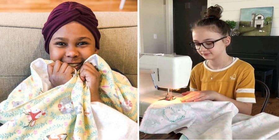 O objetivo de Lucy é que seus cobertores conforte as crianças
