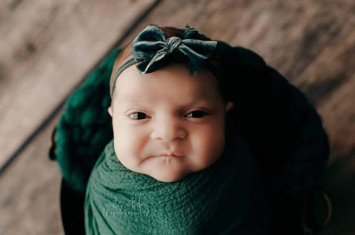 Ensaio newborn da menina que viralizou na web
