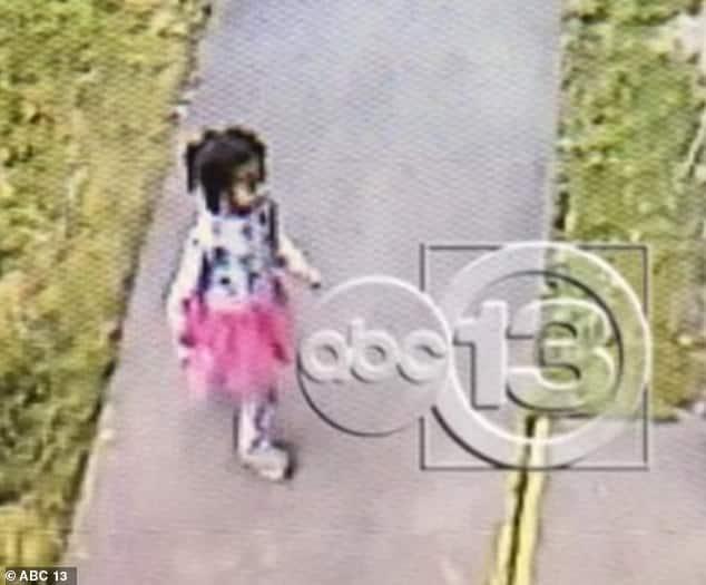 Últimas imagens da menina desaparecida