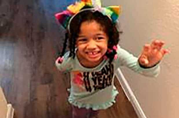 A menina de quatro anos está desaparecida desde sexta-feira