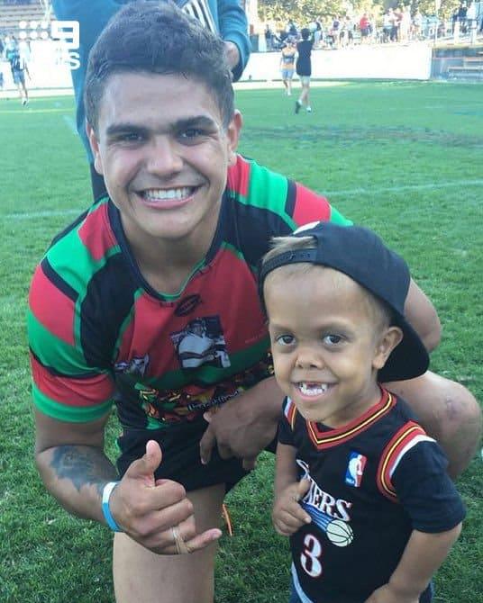 Menino já pode conhecer jogadores do time de rugby