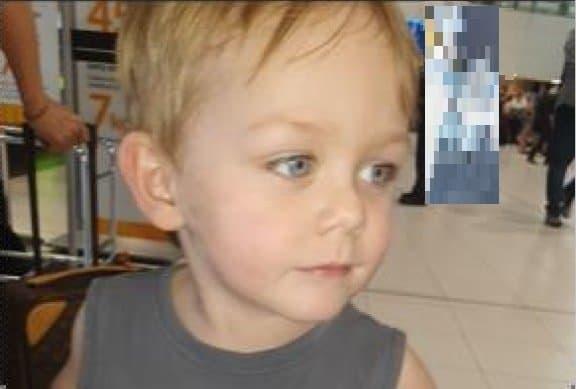 Bebê menino desapareceu sem deixar vestígios