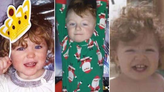 Crianças pequenas que foram vítimas do menino