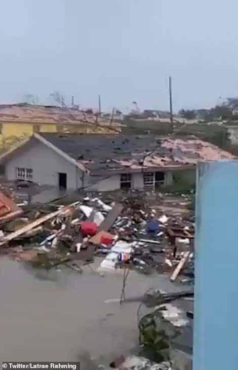 Cidade que o menino de sete anos morreu após o furacão