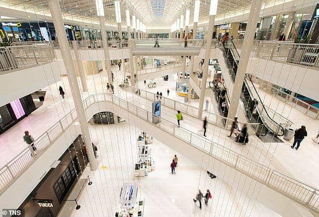 Imagem do shopping Mall of America nos Estados Unidos