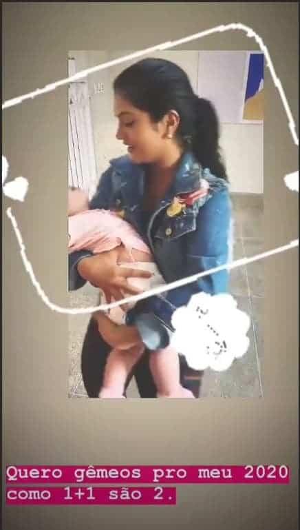 Mileide Mihaile posta que quer engravidar de gêmeos