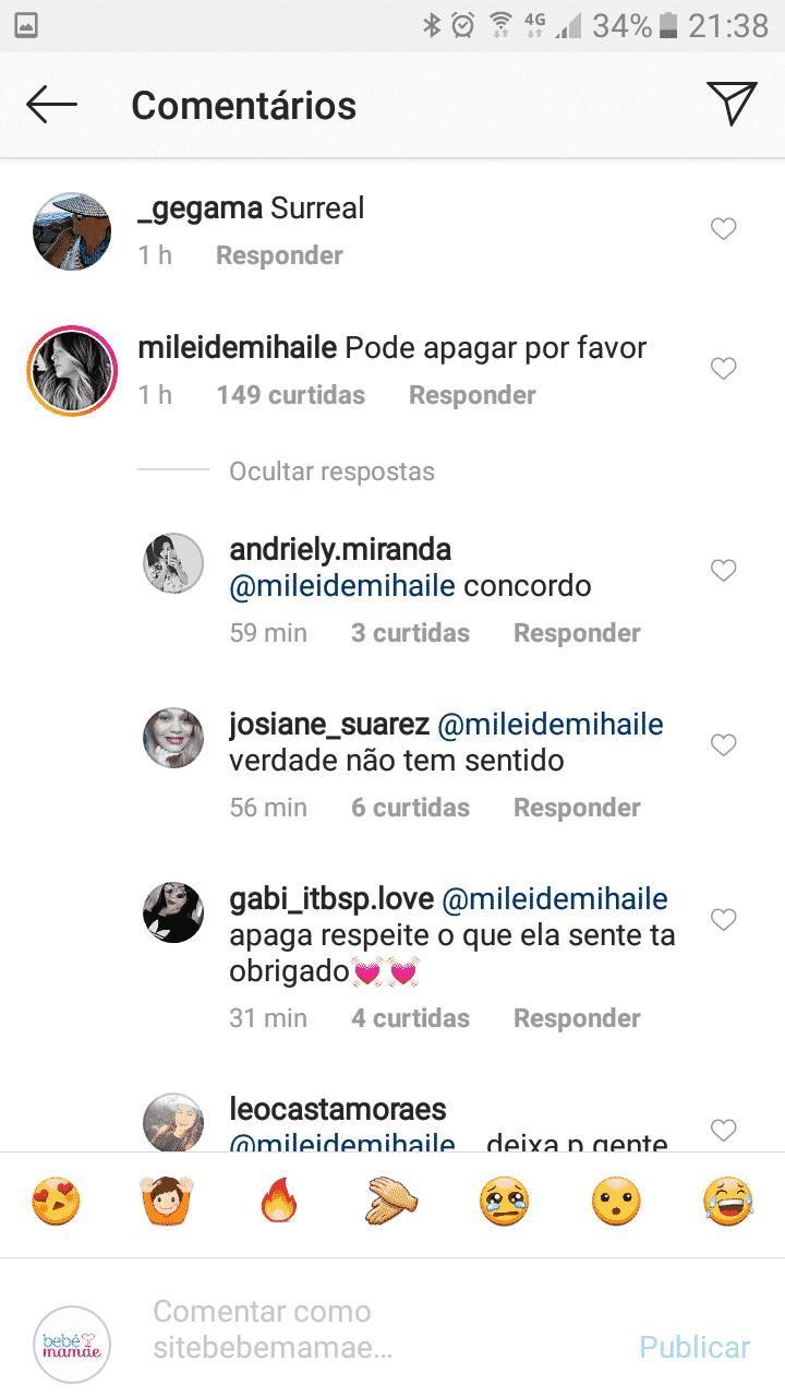Internautas responderam o comentário de Mileide Mihaile, ex-mulher de Wesley Safadão