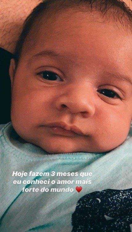 Murilo Huff revelou esta foto de seu filho Léo