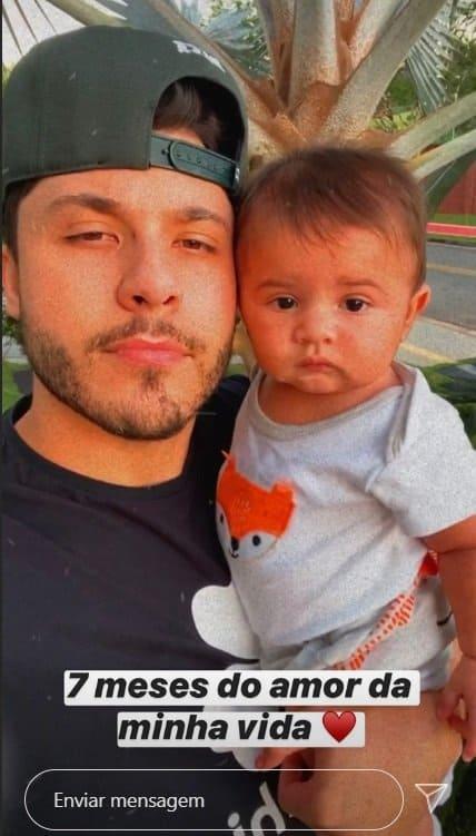 Murilo Huff e seu filho, o fofo Léo