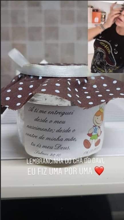 Lembrancinha do chá de bebê do filho de Neymar Jr