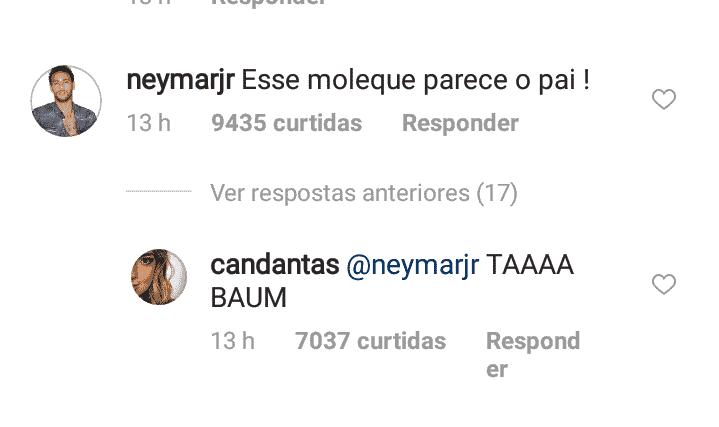 Neymar Jr diz que o filho se parece com ele, mas Carol Dantas não concordou