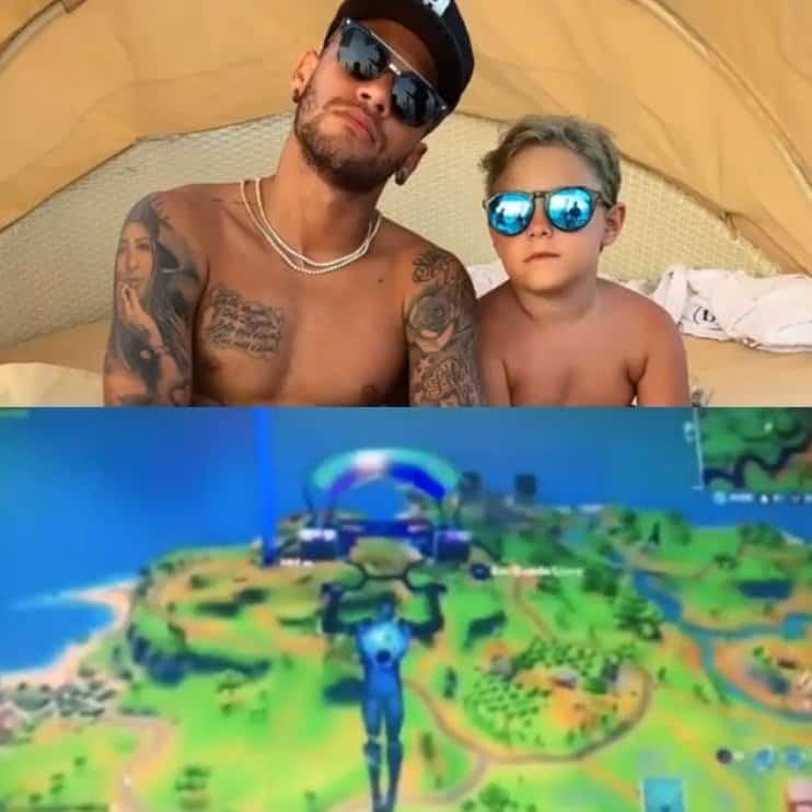 Neymar levou uma bronca de seu filho durante um jogo