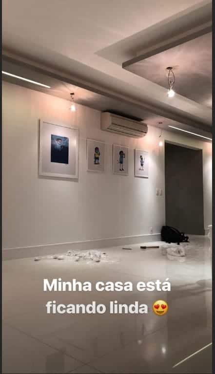 Carol Dantas, mãe do filho de Neymar, mostra detalhes da reforma