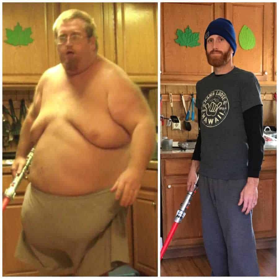 O antes de depois de Zach Moore