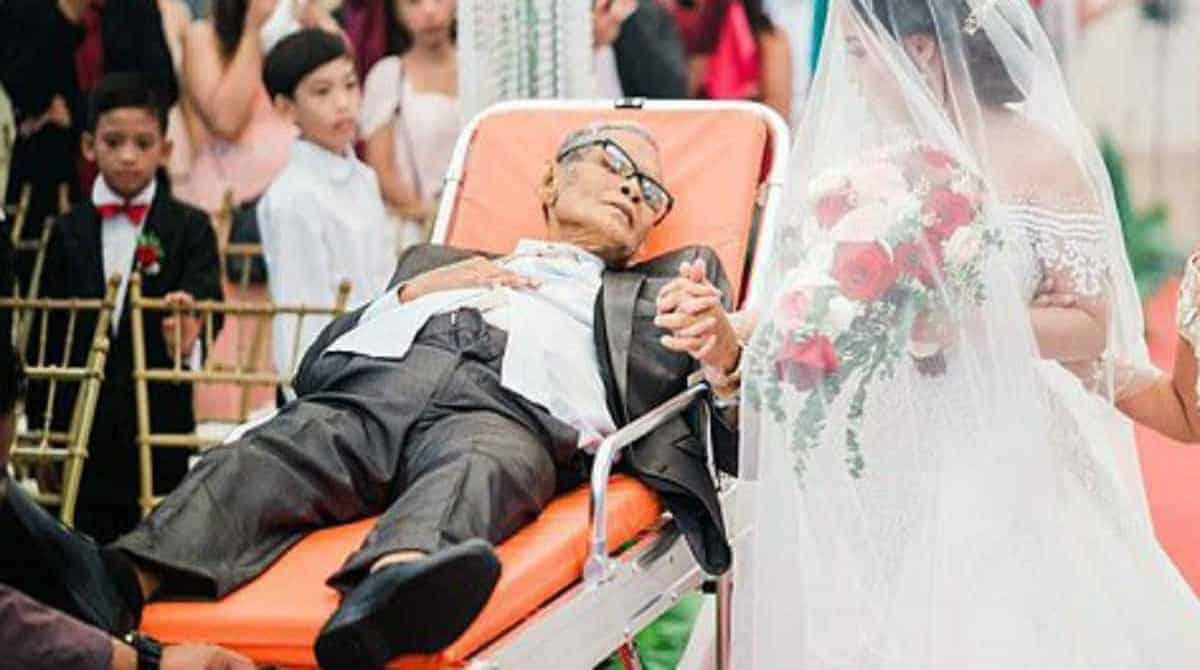 Esse pai em estado terminal acompanhou a filha em seu casamento