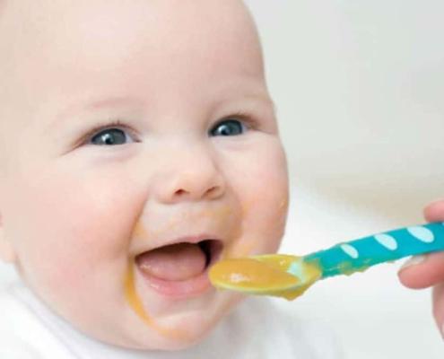 A partir dos seis meses de vida, o bebê começa a comer alimentos além do leite materno. Veja receitas de papinhas.