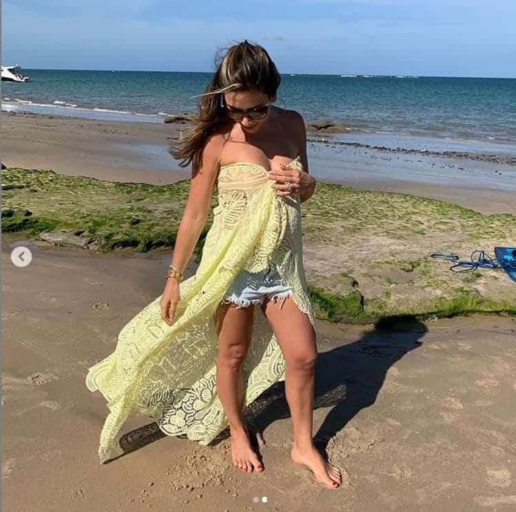 Patrícia Abravanel postou essa imagem durantes as suas férias no Rio Grande do Norte