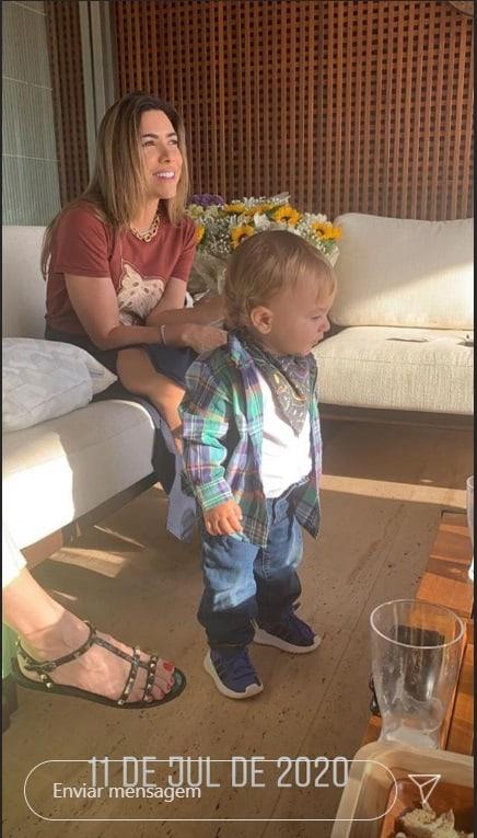 Patrícia Abravanel e seu bebê caçula