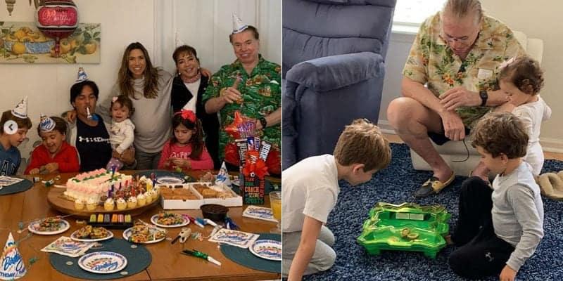 Patrícia Abravanel mostrou Silvio Santos com seus netos em fotos raras