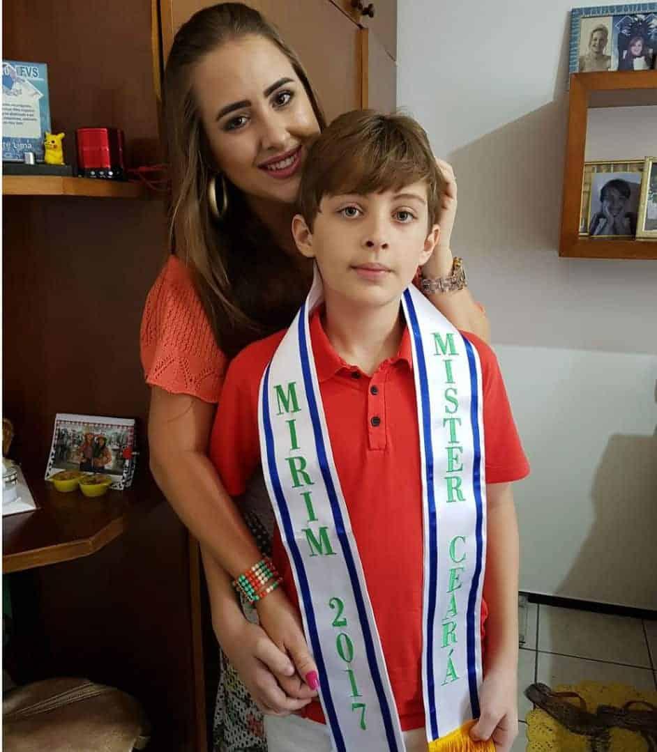 A mamãe Patrícia e seu filho