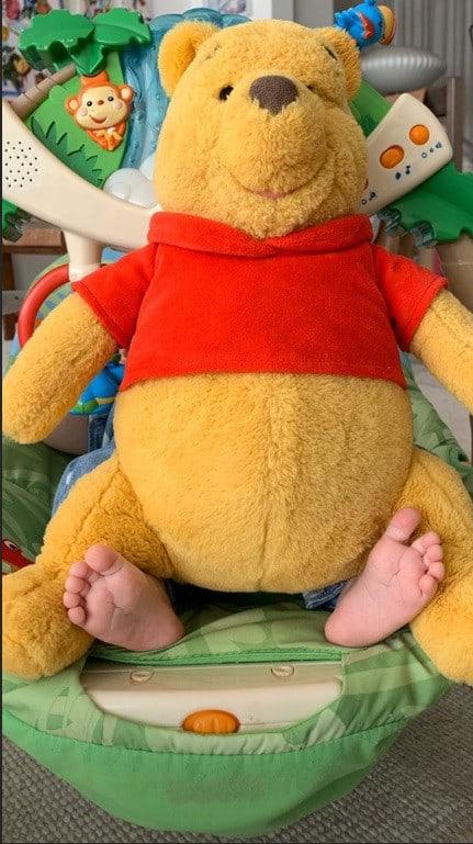 Foto inusitada da bebê de Pedro Bial