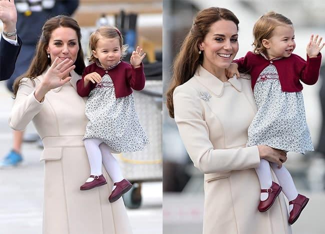 A princesa Charlotte já aprendeu a acenar